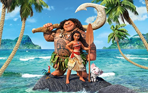Moana Movie Poster Limited Print Photo Dwayne Johnson The Rock Size 8x10 - Moana Frame Photo