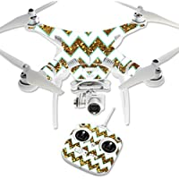 Skin For DJI Phantom 3 Standard – Glitzy Chevron | MightySkins Protective, Durable, and Unique Vinyl Decal wrap cover | Easy To Apply, Remove, and Change Styles | Made in the USA