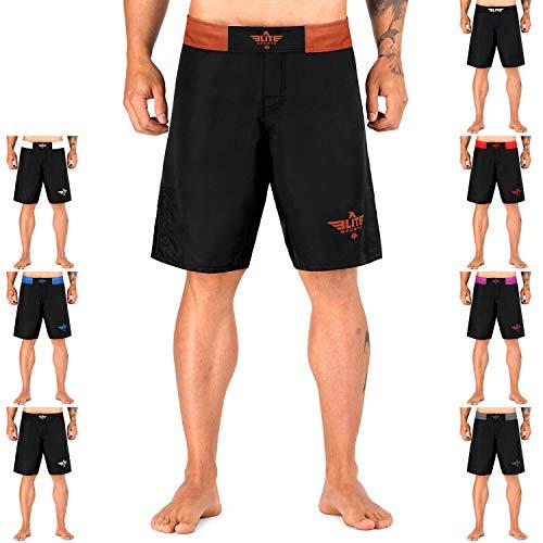 Elite Sports Black Jack Series Fight Shorts - UFC, MMA, BJJ, Muay Thai, WOD, No-Gi, Kickboxing, Boxing Shorts