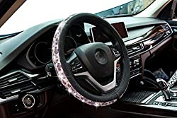 Crystal Leather Surface Steering Wheel Cover