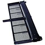 TMS 1000 Lb Heavy Duty Motorcycle Scooter Dirt Bike Hauler Rack Carrier with Cargo Basket and Loading Ramp