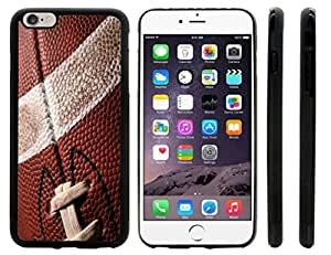 Rikki KnightTM American Football Close-Up Design iPhone 6 Plus Case Cover (Black Rubber with front bumper protection) for Apple iPhone 6 Plus