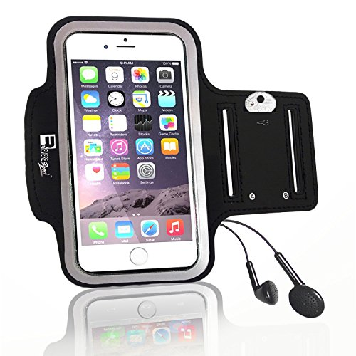 Premium iPhone 7 Plus / iPhone 8 Plus Running Armband with Fingerprint ID Access. Sports Phone Arm Case Holder for Jogging, Gym Workouts & Exercise