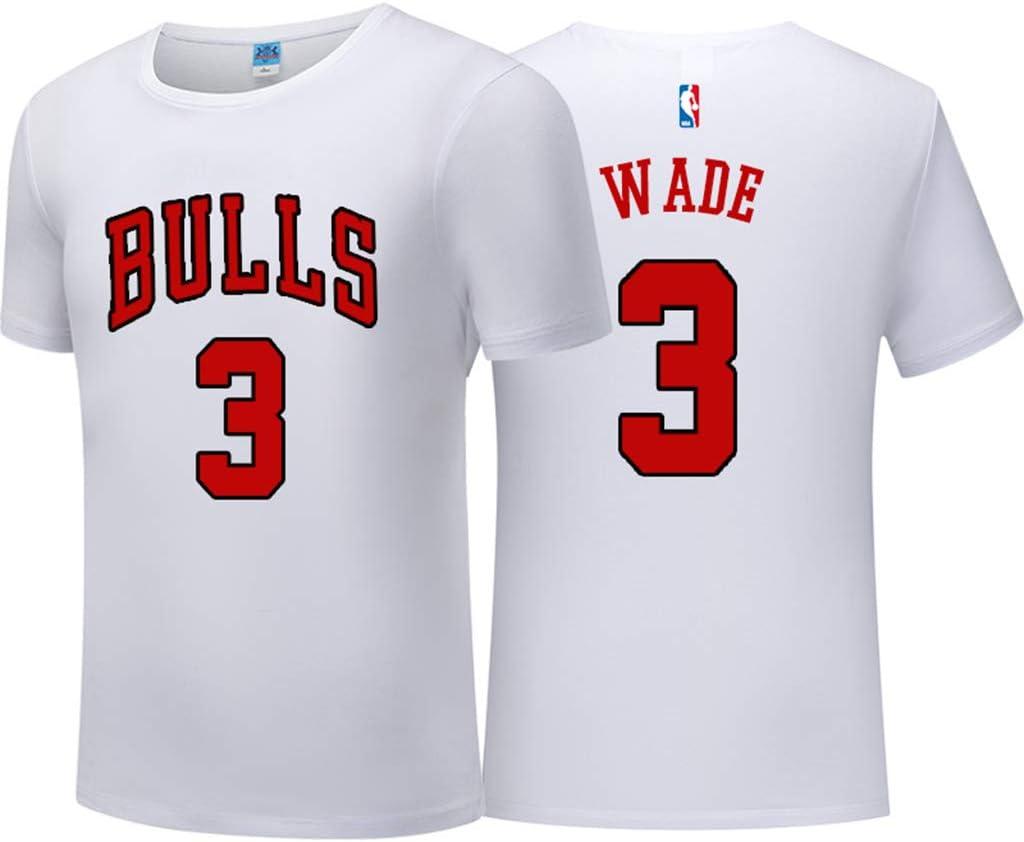 FANS LOVE Camisetas para Hombres Y Mujeres Los Chicago Bulls Sirven La Ropa Deportiva Informal De Manga Corta De Rose Wade Jerseys De La NBA Camisetas De Pareja Pippen #33 Black-XXXL