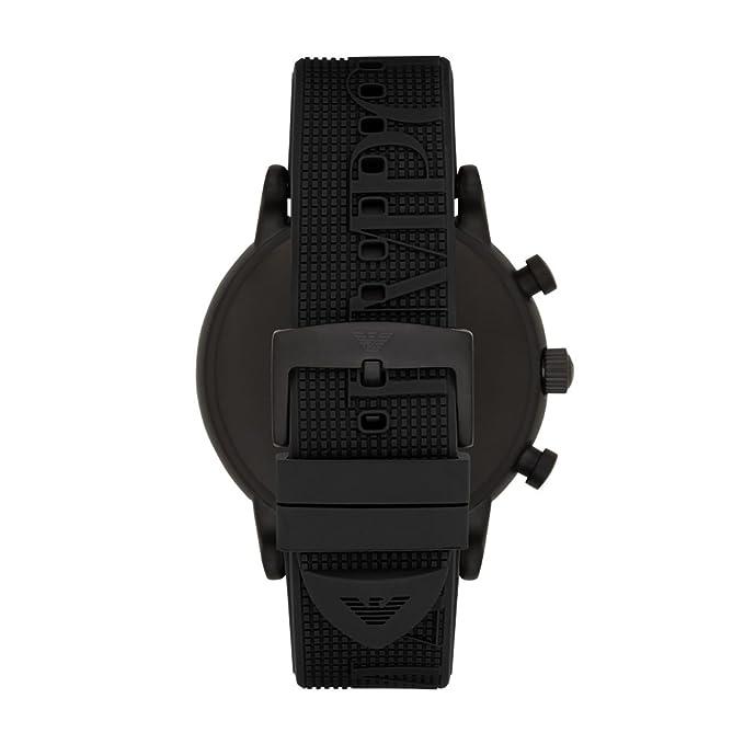 Amazon.com: Emporio Armani Mens Luigi Stainless Steel Analog-Quartz Watch with Silicone Strap, Black, 14 (Model: AR11024: Emporio Armani: Watches