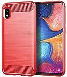 Galaxy A10E Case, Samsung A10E Case, Asmart Shock Absorption Galaxy A10E Phone Case Slim TPU Bumper Cover Soft Flexible Galaxy A10E Skin Lightweight Protective Case for Samsung Galaxy A10E, Red