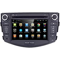 for Toyota RAV4 7 Android 7.1 Quad Core Capacitive Touch Screen Car Stereo Radio DVD Player with Screen Mirroring Function OBD2 DAB+