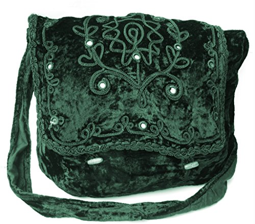 Punk College Green Vamp Vintage Gothic Black Shoulder Costume Bag Girls Victorian Renaissance PcOO84Wat