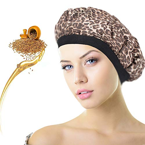 HistenOne Hair Heat Conditioning Cap Microwavable Cordless Deep Shower Steamer Bonnet Hot Thermal Head Treatment for Hair Therapy Styling Natural Cotton Flax Seed Interior for Max Heat Retention Chic from HistenOne