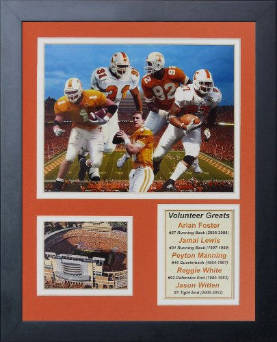 (Legends Never Die Tennessee Volunteers Greats Framed Photo Collage, 11 by 14-Inch)