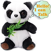 Talking Panda Cute Fluffy Mimicry Toy Repeats What You Say Electronic Pet for Kids/Toddlers/Teens Interactive Toy Educational Gift for Birthday Party or Christmas Animated Animal Plush Toy Baby Panda