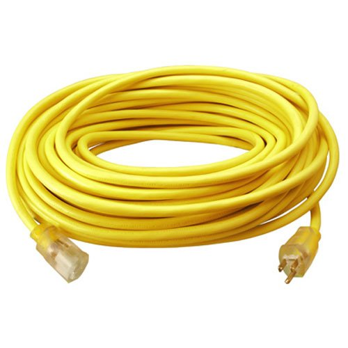 Home Improvement Yellow TV Non-Branded Items Master Electrician 02587ME 25-Feet Round Vinyl Extension Cord
