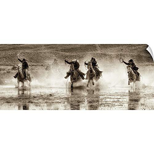 "CANVAS ON DEMAND Splash Dance II Wall Peel Art Print, 30""x13"""
