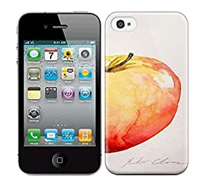 Best Power(Tm) HD Colorful Painted Watercolor Apple Still Life Watercolor Painting Hard Phone Case For Iphone 4/4S