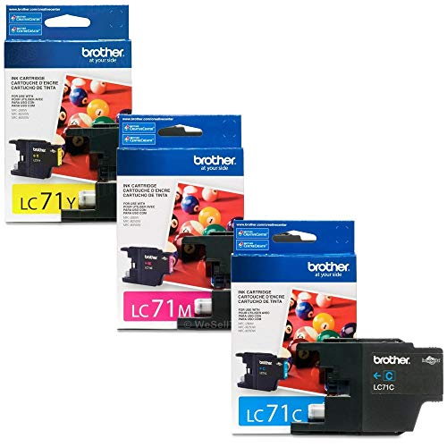 Brother LC71 Ink Cartridge (Cyan, Magenta, Yellow, 3-Pack) in Retail Packaging (Brother Printer Cartridges Lc71)