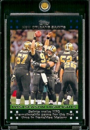 2007 Topps Football # 431 Saints Make NFC Championship Game For First Time I - New Orleans Saints - POSTSEASON HIGHLIGHTS - NFL Trading - Nfc 2007 Championship Game