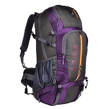 50L bolsos de montaña profesionales viajan mochila ventilación equipo de campamento , purple: Amazon.es: Deportes y aire libre