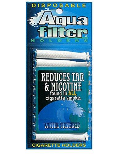 AquaFilter Disposable Cigarette Holders - 10 Filters Per Pack (Pack of 12)