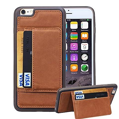 iPhone 6 Plus & iPhone 6s Plus Case, Juzi® Premium Credit Card Holder Case for Apple iPhone6 Plus / iPhone6s Plus (5.5