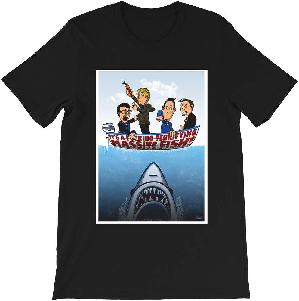 Fish Punch The Inbetweeners Comedy Humor Funny Tv Movie Film Jaws Shark Cartoon Parody Gift Men Women Unisex T-Shirt