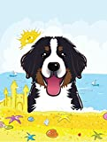 Caroline's Treasures BB2105CHF Bernese Mountain Dog Summer Beach Flag Canvas House, Large, Multicolor For Sale