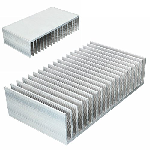 1pc Aluminum Heat Sink 182x100x45mm For LED Amplifier Transistor by Single Mom