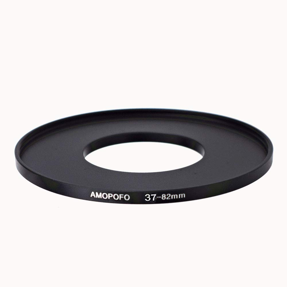 AMOPOFO 37-82mm /37mm to 82mm Step Up Ring Filter Adapter for canon Nikon Sony UV,ND,CPL,Metal Step Up Ring Adapter by AMOPOFO