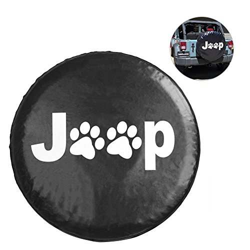 31' Tire (ALLCACA Jeep Paw Spare Tire Cover Paws Spare Wheel Tire Cover Spare Tire Wheel Soft Cover Tire Cover for Jeep Wrangler,Liberty, 29-31'', Black (Paws Pattern))