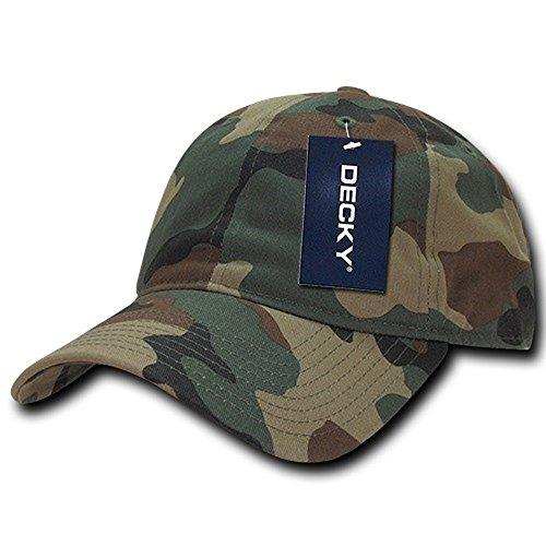 (Army Combat Uniform/Camo Vintage Cotton Polo Cap Hat (Woodland))