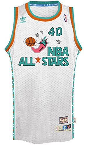 Shawn Kemp Adidas NBA Throwback 1995 All-Star West Swingman Jersey - White
