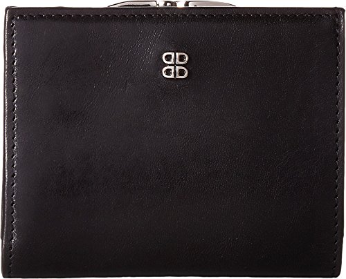 - Bosca Old Leather Women's Petite French Purse (Black)