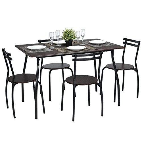 Coavas 5pcs dining set table kitchen furniture kitchen table rectangle dining table round dining - Rectangle kitchen table sets ...