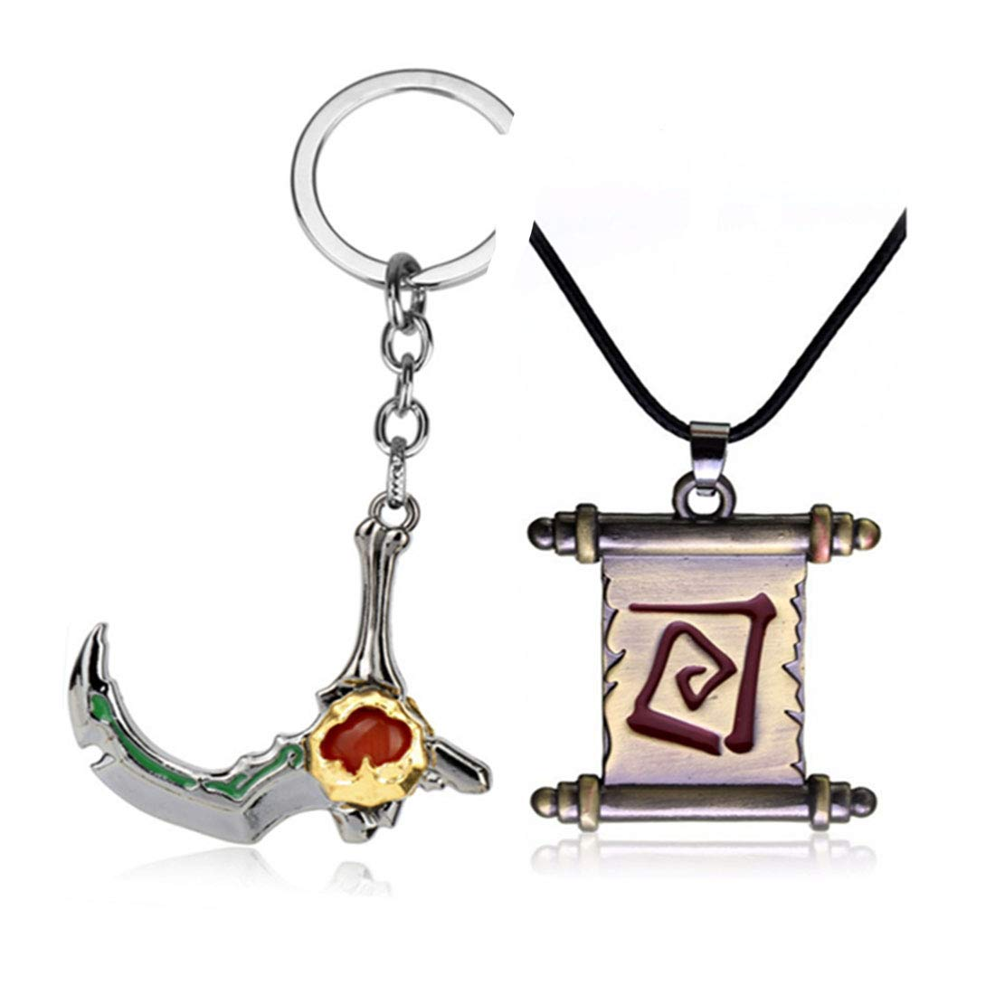 Amazon.com: Pack of 2 Dota Game Keychain Necklace Pendant ...