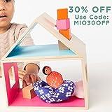 MiO Wooden Hammock & Tree Set + 1 Bean Bag Person Peg Doll - 4 Piece Imaginative Play Kit by Manhattan Toy