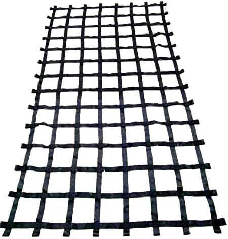 FONG 11 ft X 6 ft Climbing Cargo Net Black - Swing Set Accessories - Indoor Climbing net - Outdoor Playground Swing, Belt Swing, Cargo Net Playground