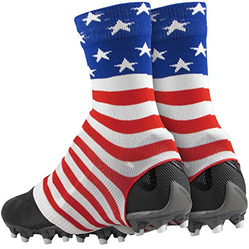 TCK Razur TDI Spat Wrap Cleat Covers (USA Flag, Large) (Cam Newton American Flag Cleats For Sale)