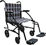 Drive Medical Fly Lite Ultra Lightweight Transport Wheelchair, 19'