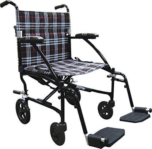 Folding Transport Chair (Drive Medical Fly Lite Ultra Lightweight Transport Wheelchair, 19