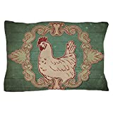 "CafePress - Vintage Chicken - Standard Size Pillow Case, 20""x30"" Pillow Cover, Unique Pillow Slip"