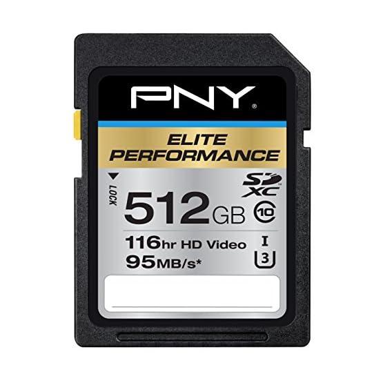 PNY 512GB Elite Performance Class 10 U3 SDXC Flash Memory Card 51i9MOwQaAL. SS555
