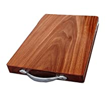 Authentic Vietnam Ironwood Chopping Board Kitchen Dinner Durable Wood Plate Cutting Food Meat Vegetables Household Necessity Cooking Accessory Tool Without Glue No Patchwork Or Painting (3320cm)