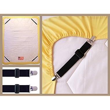 Bed Suspender Gripper/Strap/Holder/Fastener for Your Bed and Sheets. (Black)