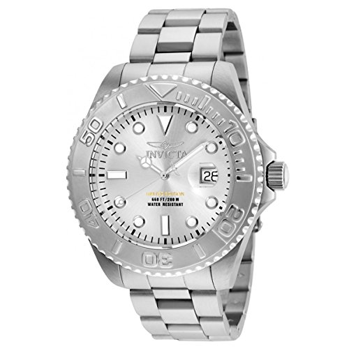 Invicta Men's Pro Diver Quartz Diving Watch with Stainless-Steel Strap, Silver, 9 (Model: 24621) ()