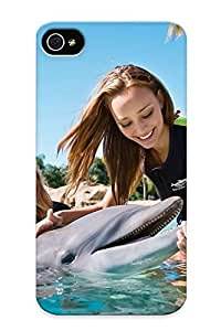 Creatingyourself Design High Quality Chiks&water Girl Dolphin Cover Case With Ellent Style For Iphone 4/4s(nice Gift For Christmas)
