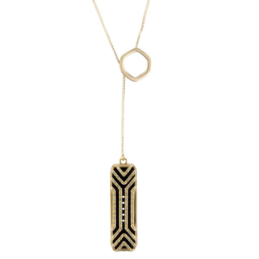 Allywit Necklace Stainless Steel Pendant Sleep Fitness Monitor For Fitbit Flex 2 (Gold)
