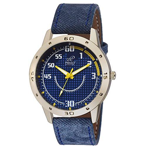 Piraso Denim Analog Watch for Men Blue …