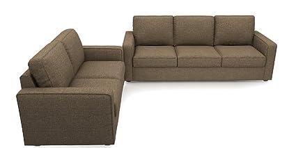 Urban Ladder Apollo Compact Five Seater Sofa Set 3 2 (Dune)