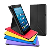 All-New Amazon Fire HD 8 Tablet Case, DTTO Slim-Fit Transformable Multi-Angle Stand Cover Case for Amazon Fire HD 8 (7th Generation, 2017 Released only) with Auto Sleep/Wake, Black