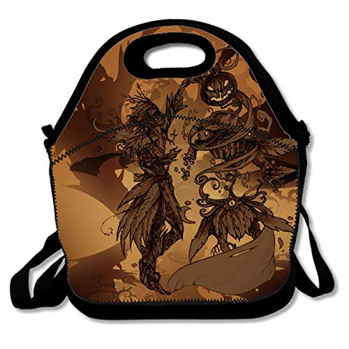 Halloween Drawing Contest Handy Portable Zipper Lunch Box Lunch Tote Lunch Tote Bags -