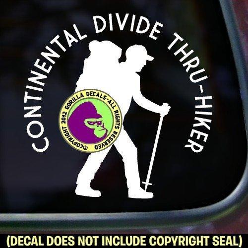 CONTINENTAL TRAIL THRU HIKER Vinyl Decal Sticker A Continental Backpack